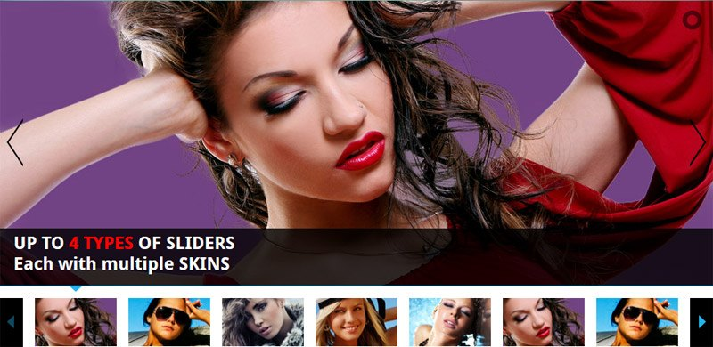WordPress Image Slider - All In One - Thumbnails Banner