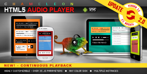 Chameleon Playlist HTML5 audio player jQuery plugin